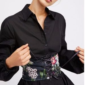 Free People X NFC Talula Floral Corset Belt